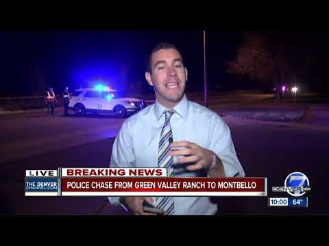 Police chase from Green Valley Ranch to Montbello