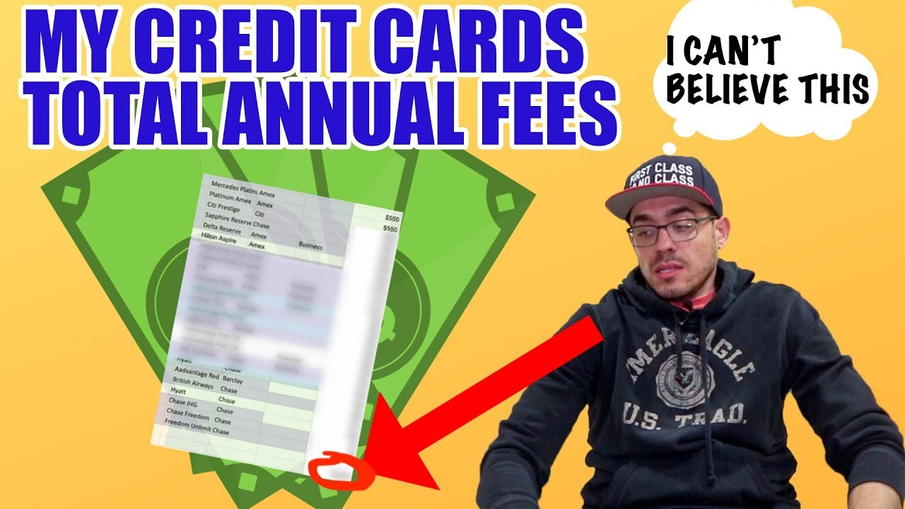 How Much I Pay in Credit Card Annual Fees? Worth it?