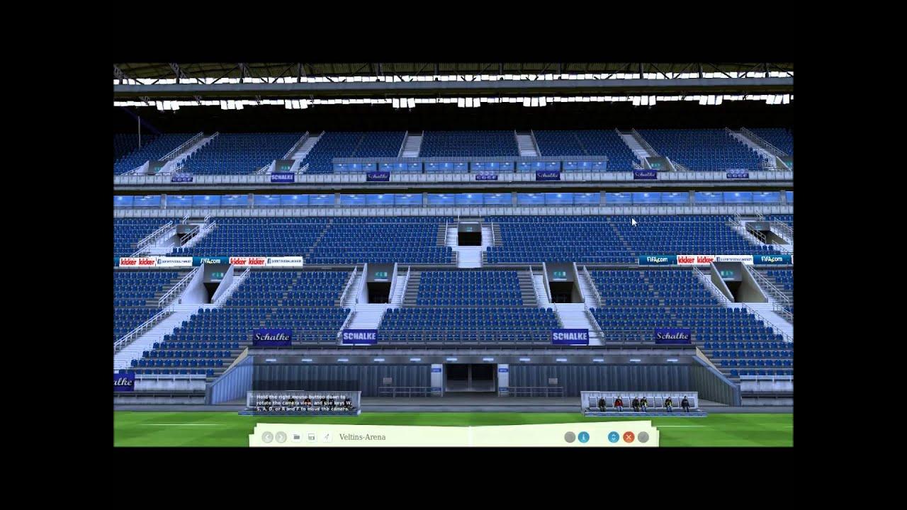 fm virtual stadium tour veltins arena schalke 04 fc. Black Bedroom Furniture Sets. Home Design Ideas