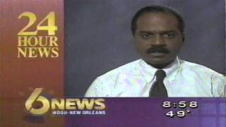 WDSU TV6 News Break New Orleans Norman Robinson 1991