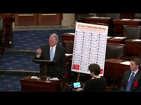 Inhofe speaks on why climate change is a hoax, as defined by Whitehouse Amendment #29