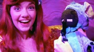 enderwoman meets princess ariel under the sea at walt disney worlds magic kingdom