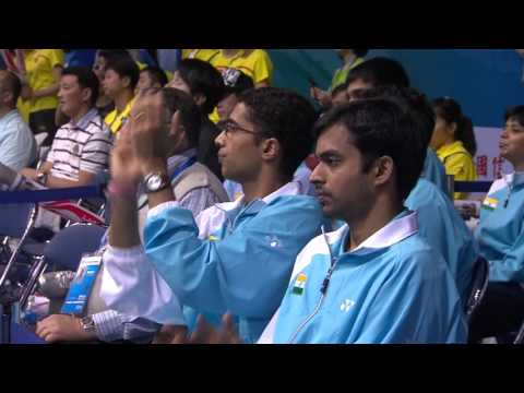 Lin Dan vs. Parupalli Kashyap - 2011 Sudirman Cup China vs. India