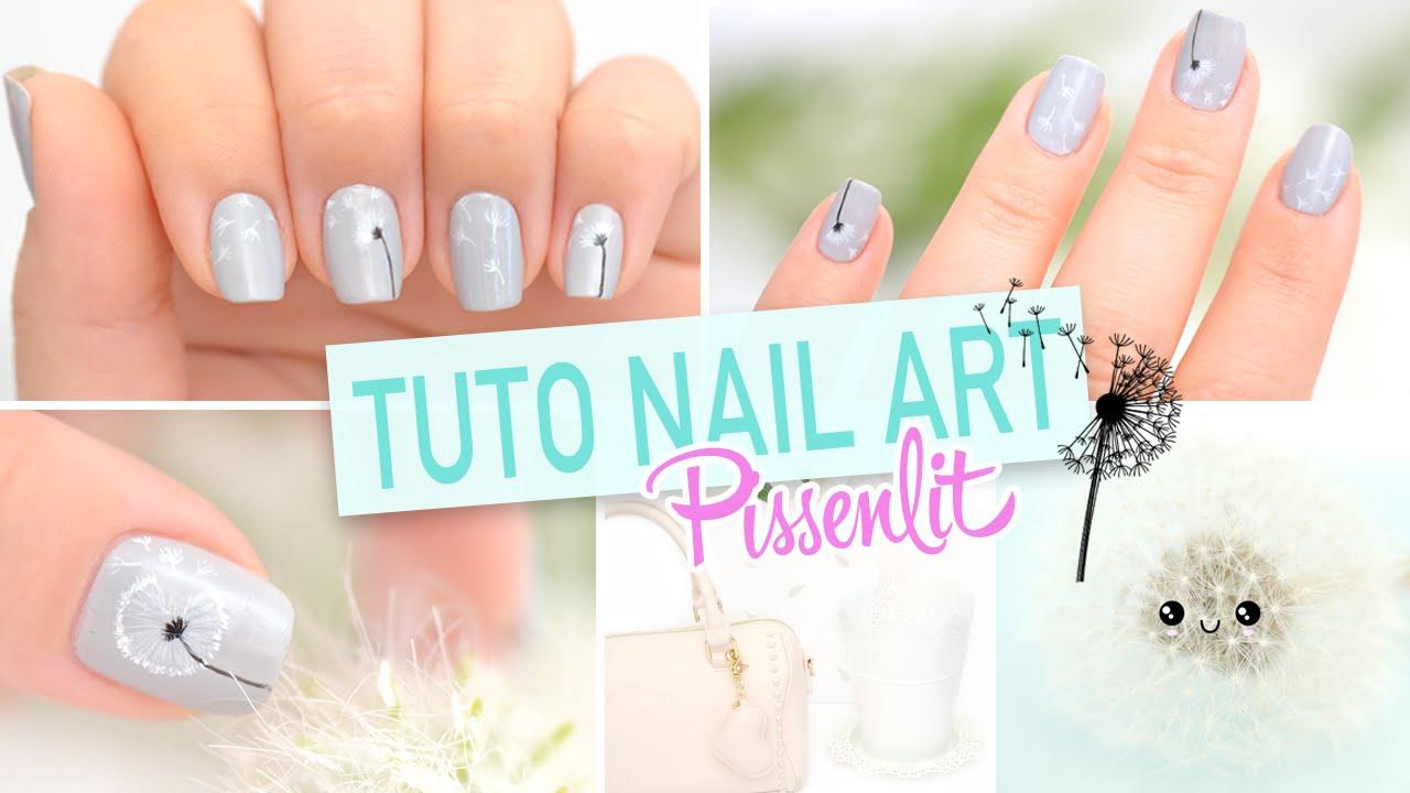Yoko Nail Art Cupcake : Tuto nail art ? Pissenlit - YouTube