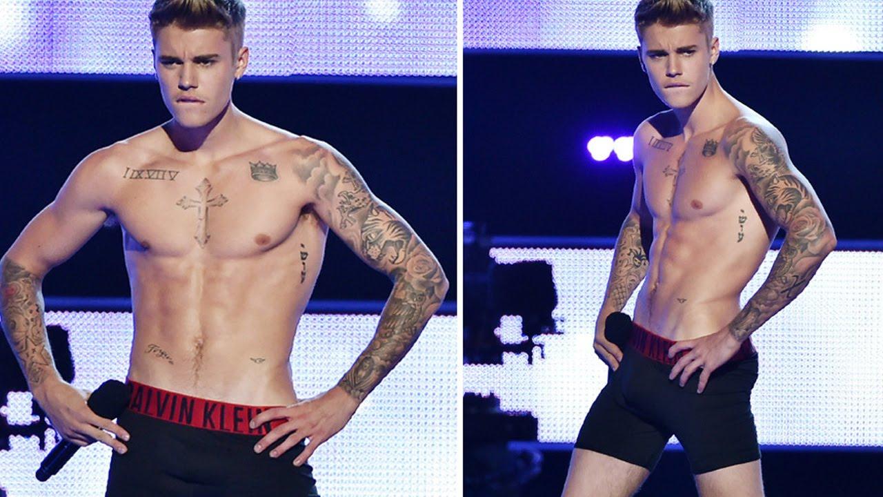 justin bieber strips down on stage to his underwear youtube
