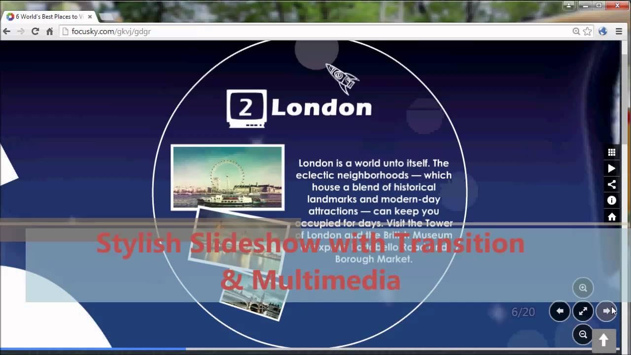 Free Slideshow Maker for Making Dynamic Photo Slideshow Easily | Focusky