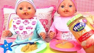 BEBÉ AVENTURAS Los hermanitos comen papilla de verdad Baby Born thumbnail