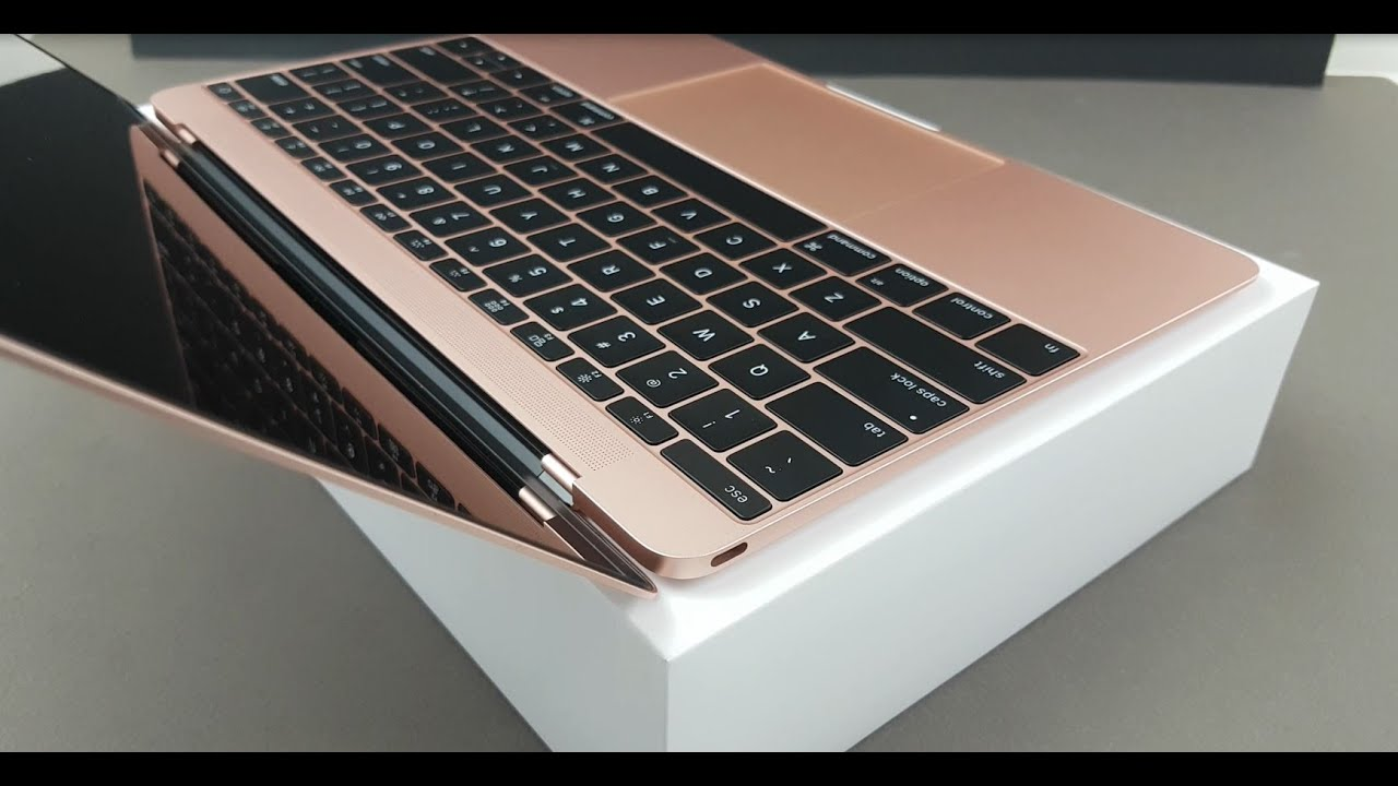 apple macbook rose gold 12 inch 2016 unboxing firstlook youtube. Black Bedroom Furniture Sets. Home Design Ideas