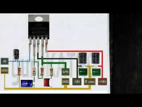 tda 2050 amplifier circuit diagram