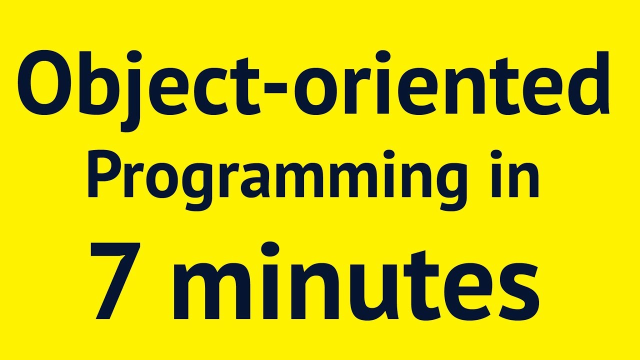 Object-oriented Programming in 7 minutes | Mosh by Programming with Mosh