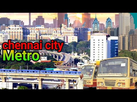 Chennai smart city of the world (2018)Chennai city full view driving in india