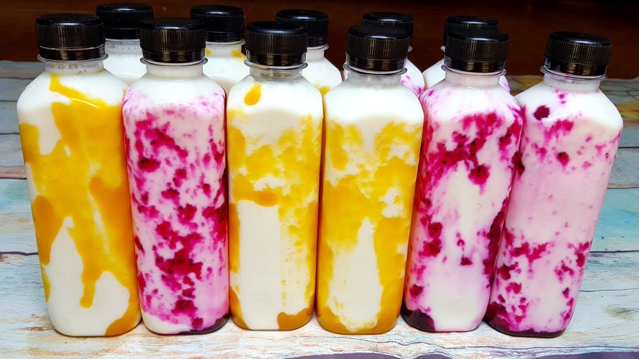 Fruit Yogurt   Cách Làm Sữa Chua Uống Trái Cây Công Thức Kinh Doanh   Góc Bếp Nhỏ
