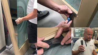 How To Remove  Glass from Fiberglass Door - Install New Glass