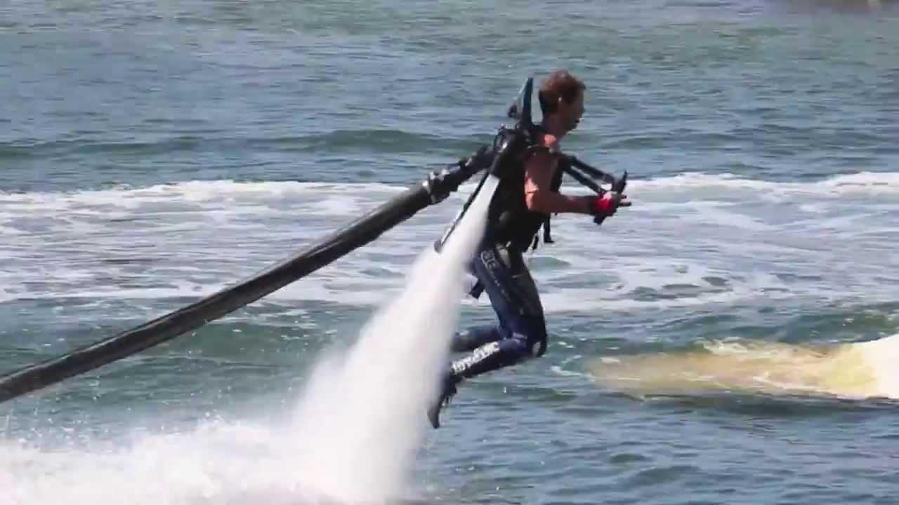 Water Jet Pack Flyer - JetLev water jet pack - YouTube