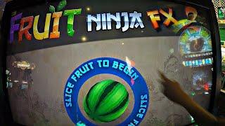 Fruit Ninja FX 2 Arcade Ticket Redemption Game Kids Challenge: Girls Vs. Boys - Most Tickets Won?