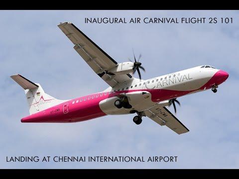 Air Carnival Inaugural Flight CJB-MAA landing at Chennai Airport