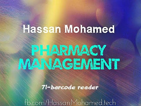71-Pharmacy Management Project( Barcode Reader)