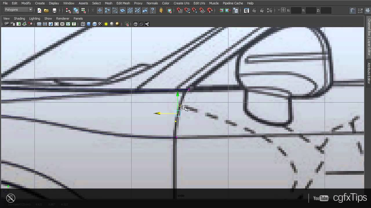 Maya tutorial car modelling audi r8 3d blueprint youtube malvernweather Gallery