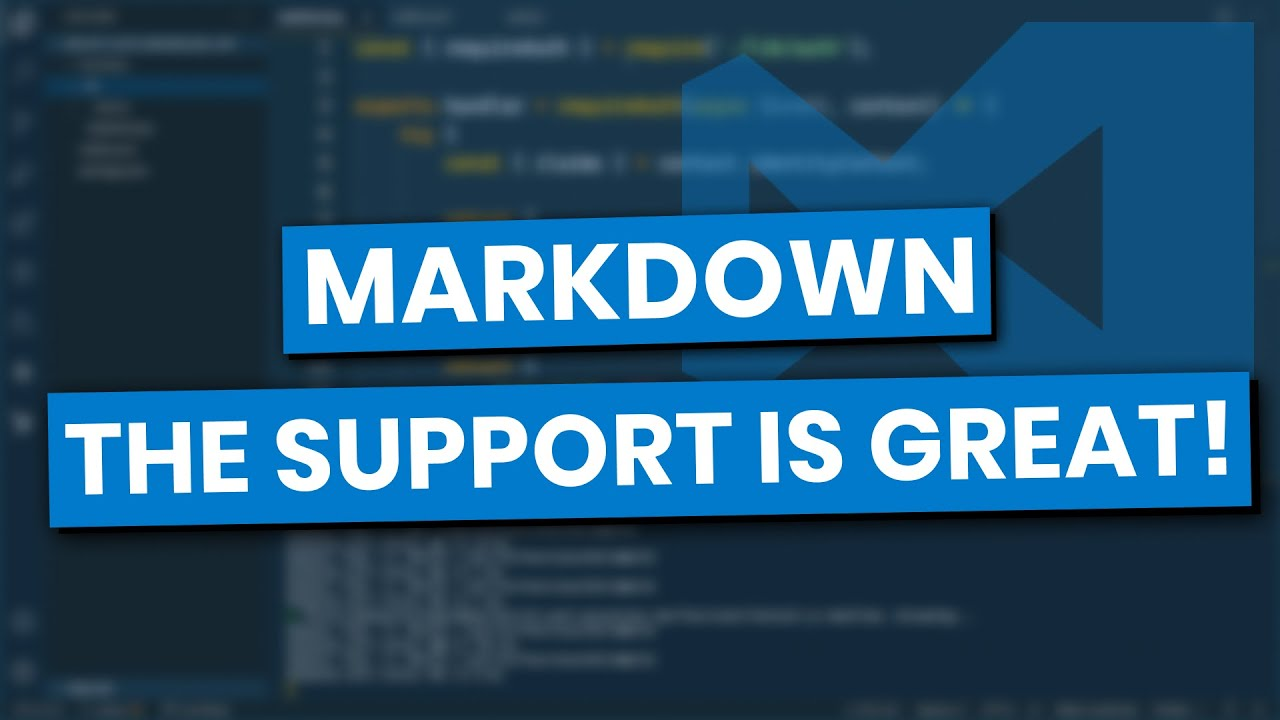 Introduction To Markdown Using Visual Studio Code - YouTube