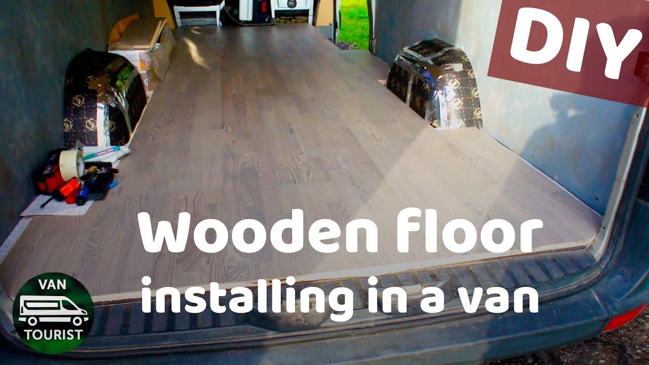 Hardwood flooring in a van conversion wooden floor installation in hardwood flooring in a van conversion wooden floor installation in a sprinter van rv or motorhome solutioingenieria Images