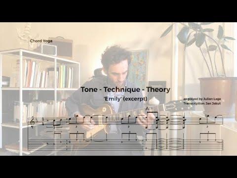 Julian Lage - Emily (Johnny Mandel Cover) transcription excerpt