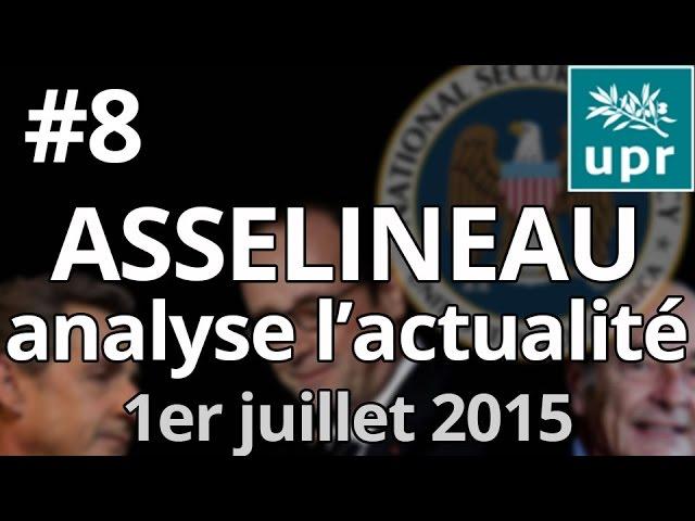 Entretien avec François Asselineau – Questions d'actualité – 1er Juillet  2015