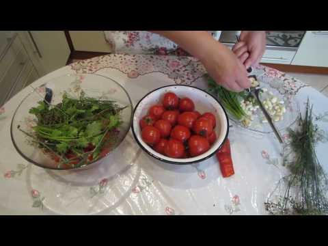 Маринованные помидоры за сутки без шкурки