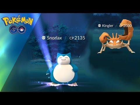 WILD 2000CP SNORLAX!   WILD 2000CP KINGLER! (Pokemon GO)