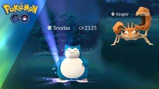 WILD 2000CP SNORLAX! | WILD 2000CP KINGLER! (Pokemon GO)