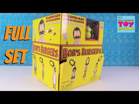 Bob's Burgers Collector Clips Series 1 Full Box Set Toy Review Opening | PSToyReviews