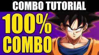 Dragon Ball FighterZ - BASE GOKU 100% Combo Tutorial - Touch of Death!