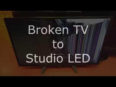 DIY Studio LED Lamp from a broken LED TV