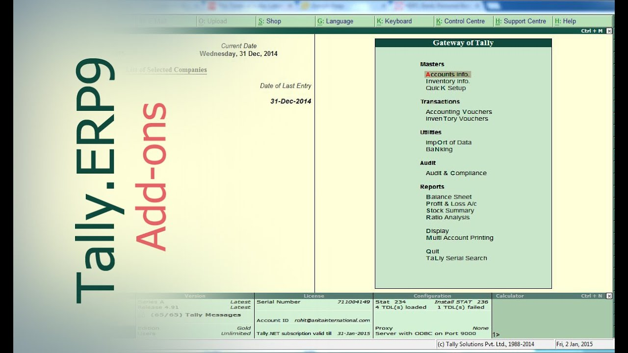 tally add ons address book in tally erp9 tally customization rh youtube com TDL Contractors TDL Contractors