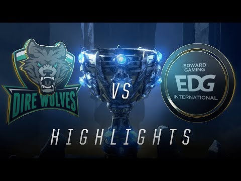 DW vs EDG - Worlds Play In Match Highlights (2018)