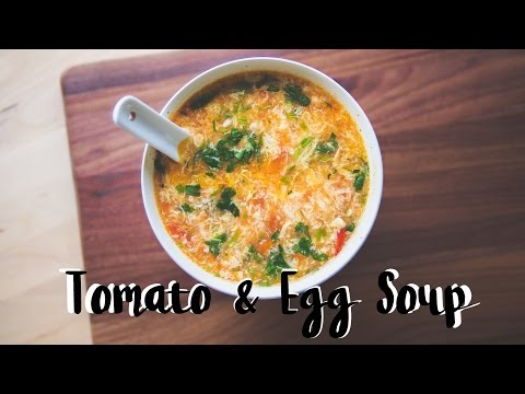 Tomato & Egg Drop Soup | Chinese Food Recipe