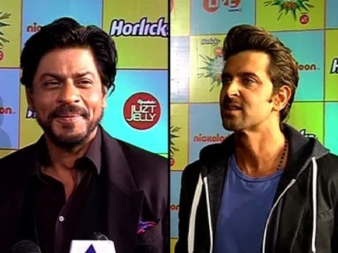 Shah Rukh Hrithik at Nickelodeon Kids Awards