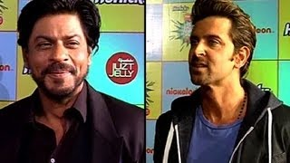 Shah Rukh Hrithik at Nickelodeon Kids Awards