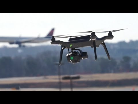 The first commercial drone flight at a major US airport