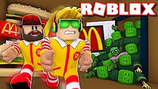 ZOMBIES ARE ATTACKING MCDONALDS in ROBLOX!!!