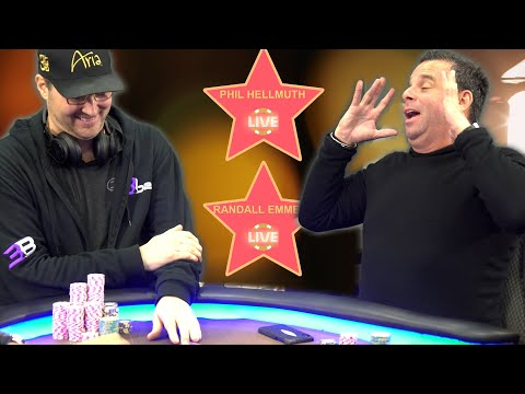 Phil Hellmuth & Hollywood Producer Randall Emmett Face Off ♠ Live at the Bike!