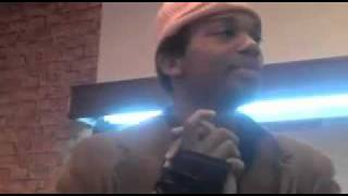 Charles Hamilton vs Serius Jones Battle inside FIGS barbershop in Harlem