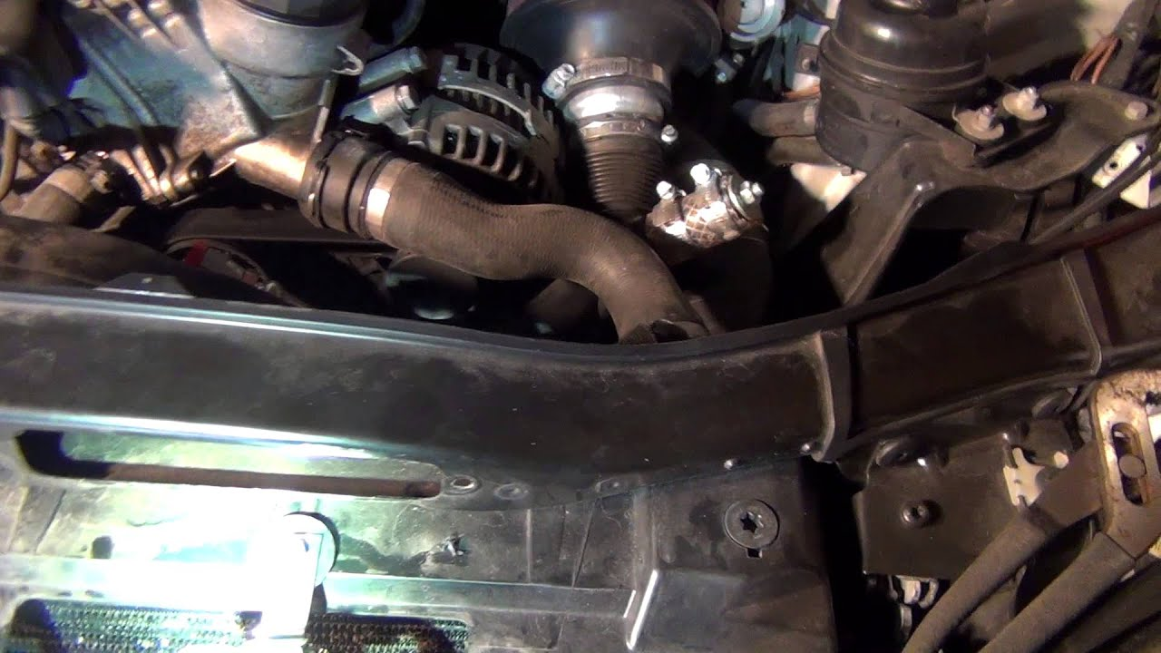oil cooler install progress on bmw 335i [ 1280 x 720 Pixel ]