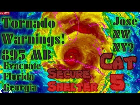 Hurricane Irma Latest Track Tornado Warnings Jose to  NY ?