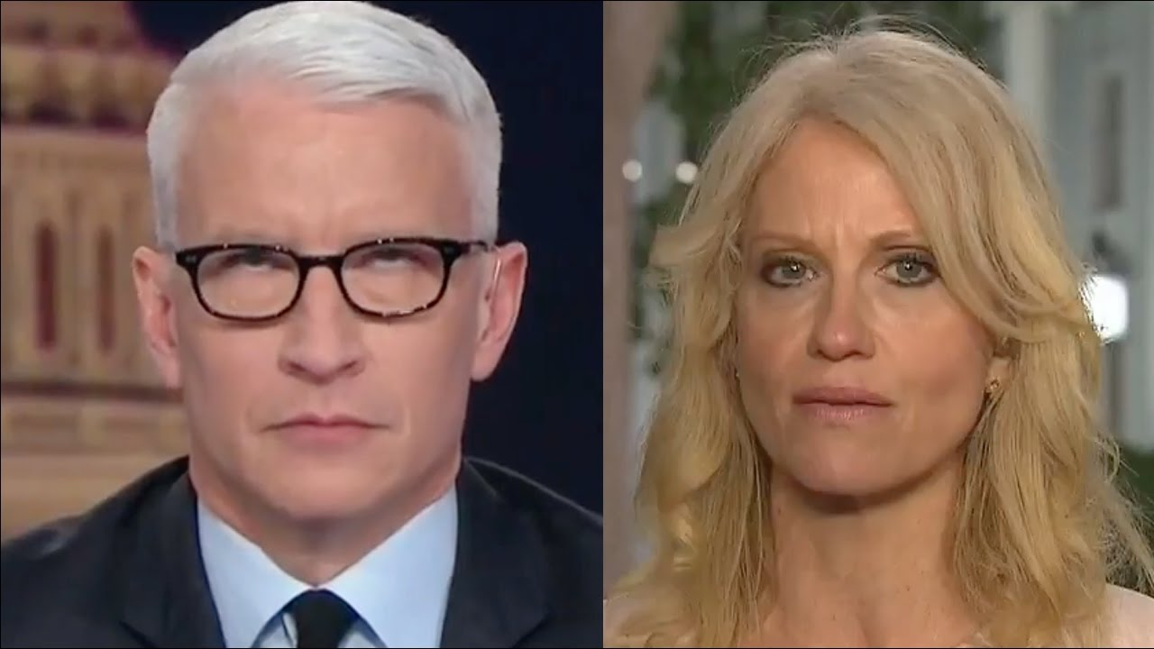 Anderson Cooper Rolling His Eyes At Kellyanne Conway
