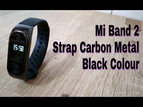 Mi band 2 new Strap Carbon Metal Black |  Unboxing And Review indonesia