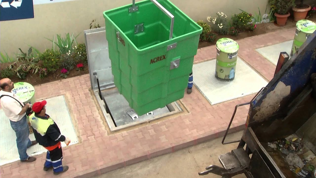 Best Kitchen Gallery: Acrex Underground Garbage Containers Youtube of Buried Storage Container on rachelxblog.com