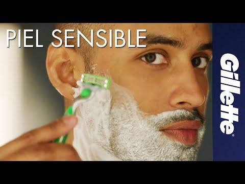Cómo Afeitar Piel Sensible | Gillette MACH3 Sensitive