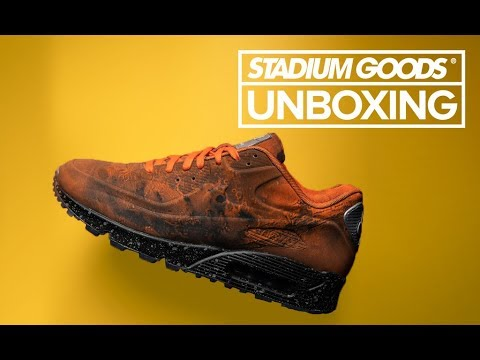52cc9551c5 Mars Landing Air Max 90 | Stadium Goods Unboxing - YouTube