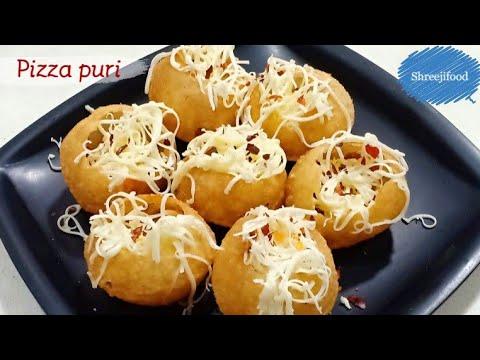 સાંજનાં નાસ્તામાં બનાવો એકદમ ટેસ્ટી પીઝાપુરી   Cheese Pizza Puri   Easy & Quick Recipe