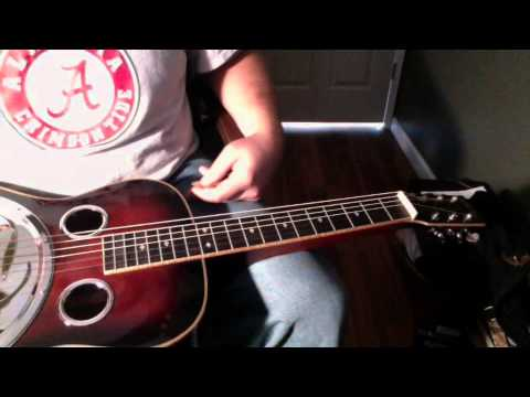 """Dobro lesson- Solo from """"The Boxer"""" as played by Jerry Douglas"""
